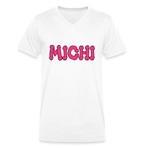Michi - Männer Bio-T-Shirt mit V-Ausschnitt von Stanley & Stella