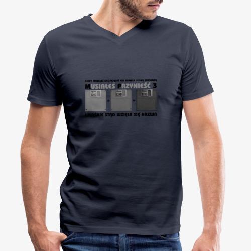 piosenka na dyskietkach - Ekologiczna koszulka męska z dekoltem w serek Stanley & Stella