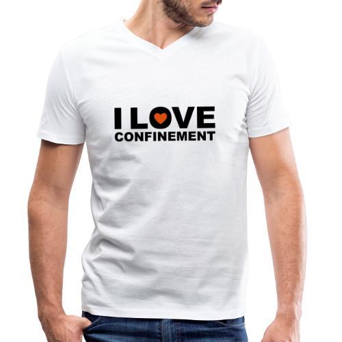 j aime le confinement - T-shirt bio col V Stanley & Stella Homme