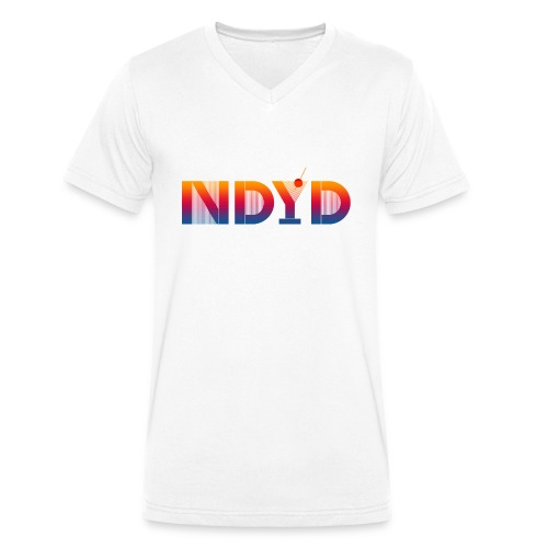 Track ID - NDYD on the Back - Men's Organic V-Neck T-Shirt by Stanley & Stella