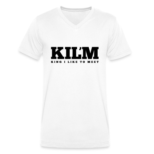 King I Like to Meet - Mannen bio T-shirt met V-hals van Stanley & Stella