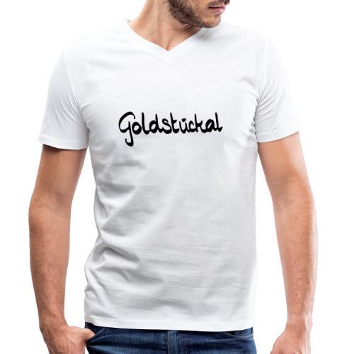 Goldstückal - Männer Bio-T-Shirt mit V-Ausschnitt von Stanley & Stella