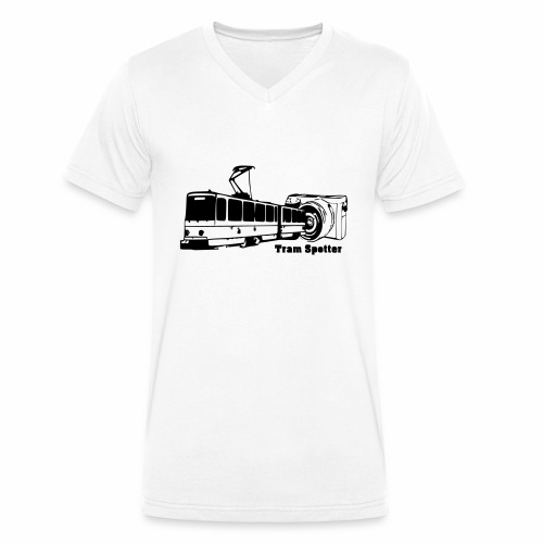 Tram-Spotter - Männer Bio-T-Shirt mit V-Ausschnitt von Stanley & Stella