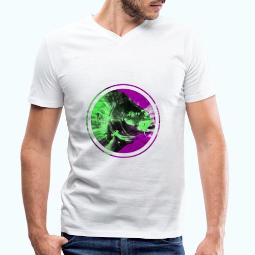 Psychedelic Koi Carp - Men's Organic V-Neck T-Shirt by Stanley & Stella