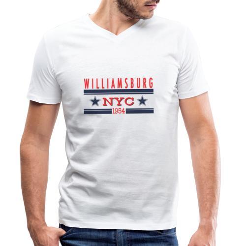 Williamsburg Hipster - Männer Bio-T-Shirt mit V-Ausschnitt von Stanley & Stella