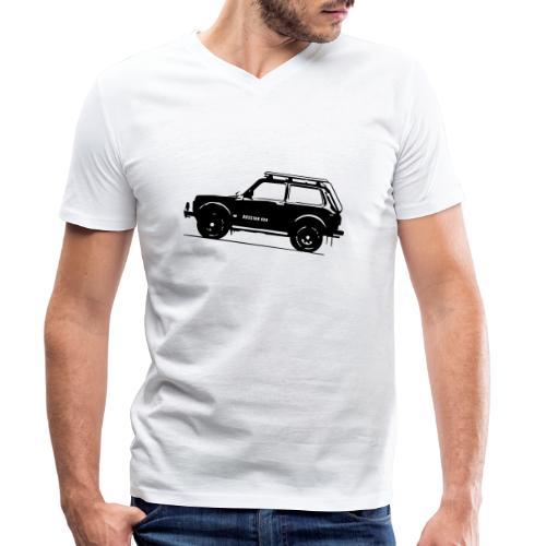 Lada Niva 2121 Russin 4x4 - Männer Bio-T-Shirt mit V-Ausschnitt von Stanley & Stella