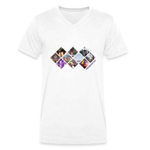 Thaipost.no - Økologisk T-skjorte med V-hals for menn fra Stanley & Stella