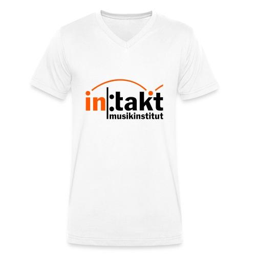 intakt Logo - Männer Bio-T-Shirt mit V-Ausschnitt von Stanley & Stella