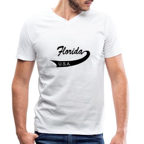 Florida USA - Männer Bio-T-Shirt mit V-Ausschnitt von Stanley & Stella