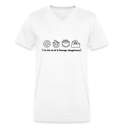 Brennsuppn - Männer Bio-T-Shirt mit V-Ausschnitt von Stanley & Stella