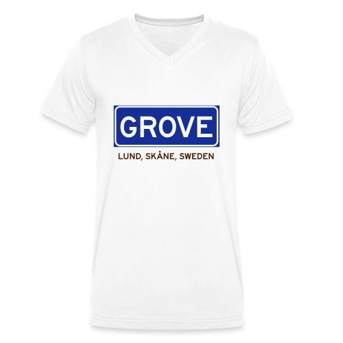 Lund, Badly Translated - Ekologisk T-shirt med V-ringning herr från Stanley & Stella
