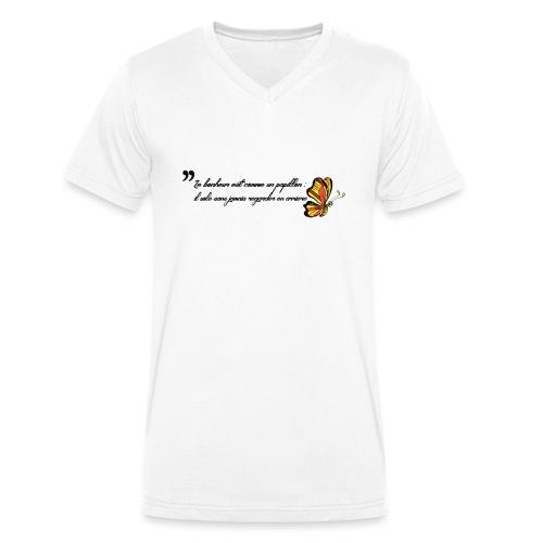 Papillon de bonheur - T-shirt bio col V Stanley & Stella Homme