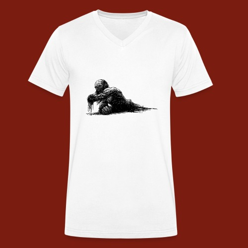 Splatter Zombie - Men's Organic V-Neck T-Shirt by Stanley & Stella