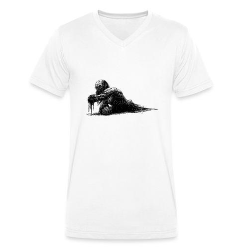 Splatter Zombie - T-shirt ecologica da uomo con scollo a V di Stanley & Stella