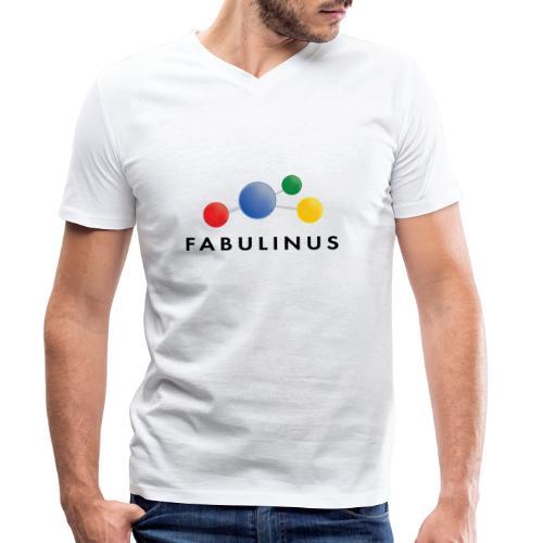 Fabulinus logo enkelzijdig - Mannen bio T-shirt met V-hals van Stanley & Stella