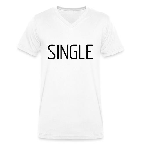 Single - Männer Bio-T-Shirt mit V-Ausschnitt von Stanley & Stella