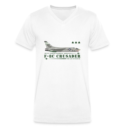 F-8C Crusader VMF-333 - Men's Organic V-Neck T-Shirt by Stanley & Stella