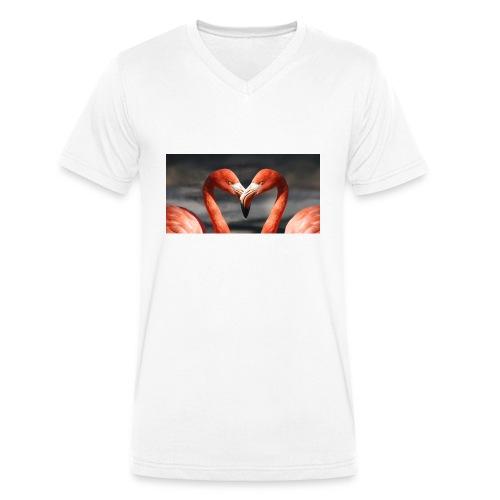 flamingo - Männer Bio-T-Shirt mit V-Ausschnitt von Stanley & Stella