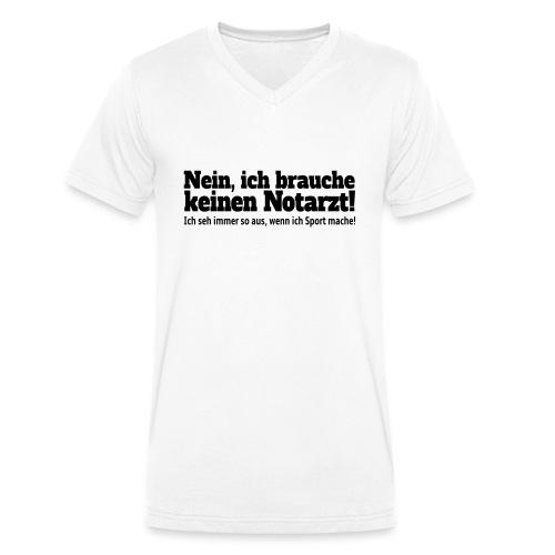 Sport Spruch - Männer Bio-T-Shirt mit V-Ausschnitt von Stanley & Stella