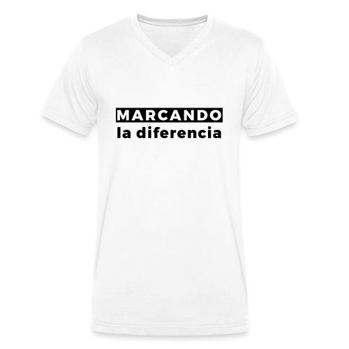 Marcando - Camiseta ecológica hombre con cuello de pico de Stanley & Stella