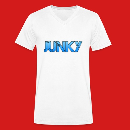 Junky Skate Blue - Men's Organic V-Neck T-Shirt by Stanley & Stella
