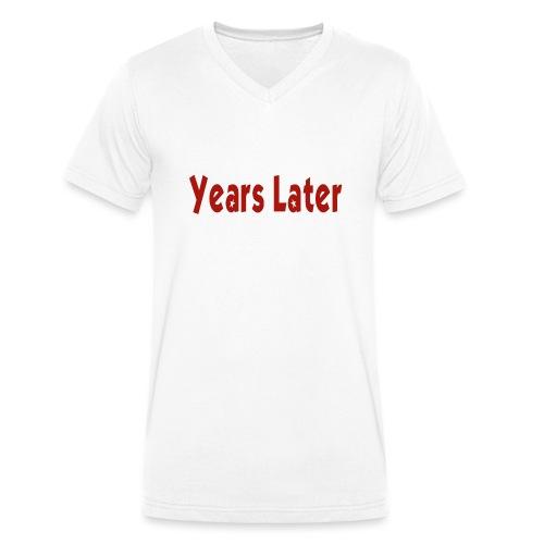 Bandname Years Later rot - Männer Bio-T-Shirt mit V-Ausschnitt von Stanley & Stella