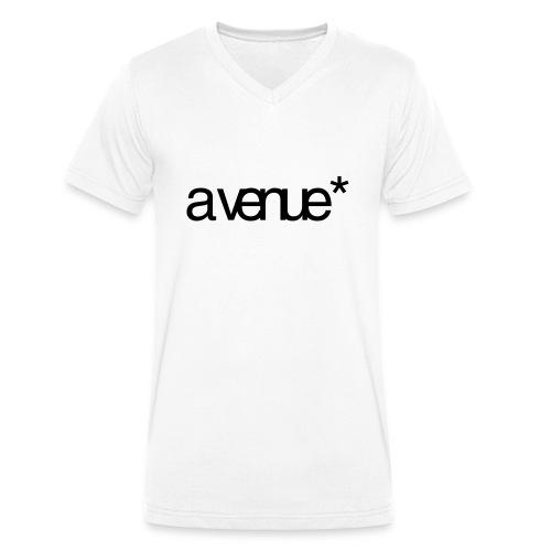 Logo AVenue1 80 - Mannen bio T-shirt met V-hals van Stanley & Stella