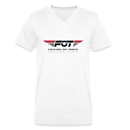 FOT Gross 01 roter HG - Männer Bio-T-Shirt mit V-Ausschnitt von Stanley & Stella