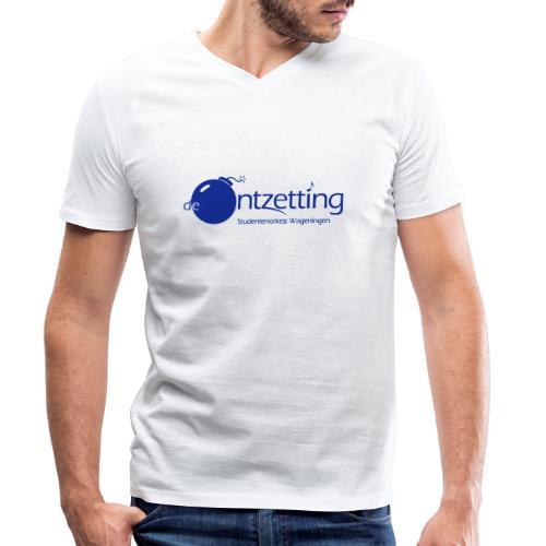ontzetting logo - Mannen bio T-shirt met V-hals van Stanley & Stella