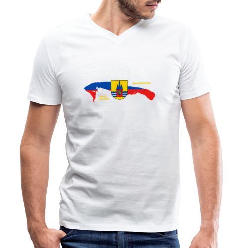 Wangerooge Insel Nordsee Urlaub - Männer Bio-T-Shirt mit V-Ausschnitt von Stanley & Stella