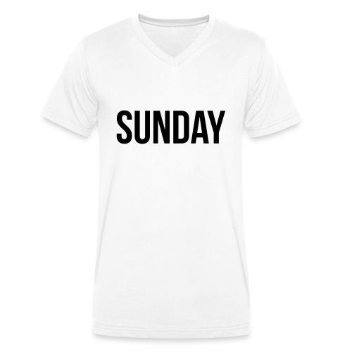Sunday - Men's Organic V-Neck T-Shirt by Stanley & Stella