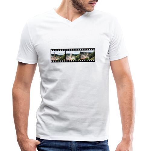 WanderKaminFall - Männer Bio-T-Shirt mit V-Ausschnitt von Stanley & Stella
