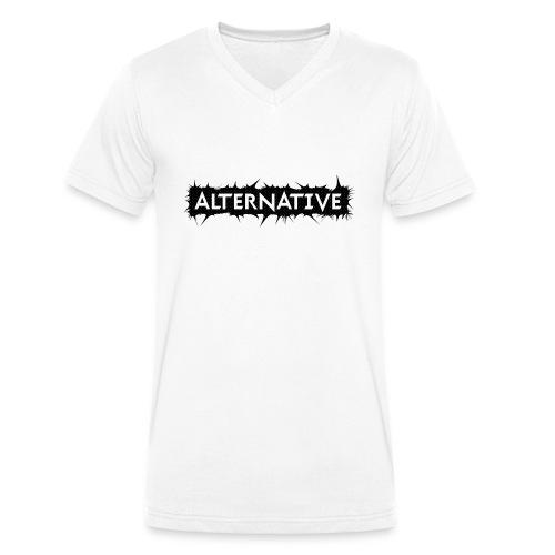 Spike T-shirt White - Ekologiczna koszulka męska z dekoltem w serek Stanley & Stella