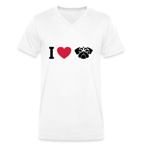 I love mops - Männer Bio-T-Shirt mit V-Ausschnitt von Stanley & Stella