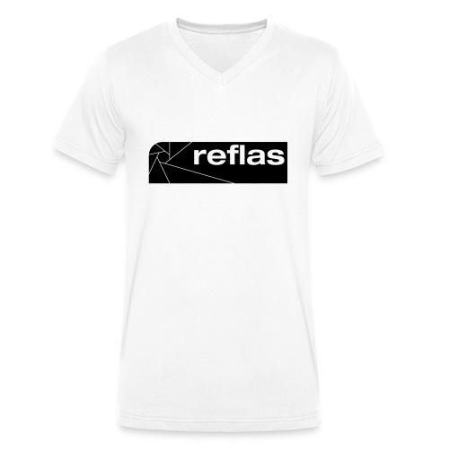 Reflas Clothing Black/Gray - T-shirt ecologica da uomo con scollo a V di Stanley & Stella