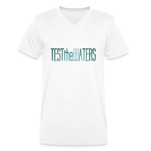 TESTtheWATERS BETA BLUE - Men's Organic V-Neck T-Shirt by Stanley & Stella