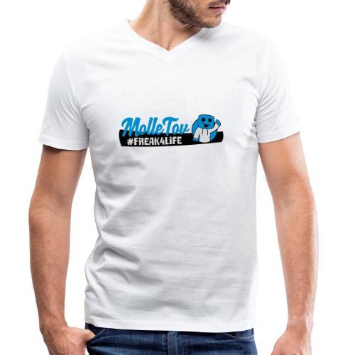 Nyt Logo4 - Økologisk Stanley & Stella T-shirt med V-udskæring til herrer