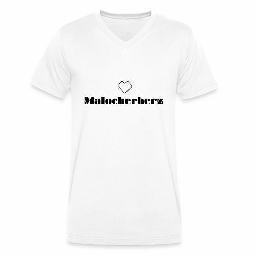 Malocherherz - Männer Bio-T-Shirt mit V-Ausschnitt von Stanley & Stella