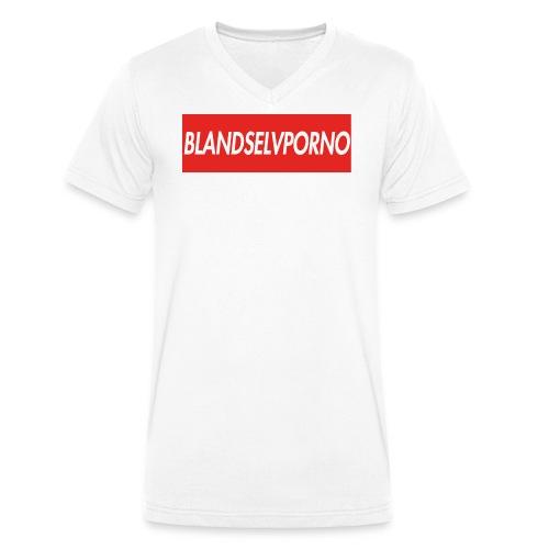 BLANDSELVPORNO RED EVOLUTION EDITION - Økologisk Stanley & Stella T-shirt med V-udskæring til herrer