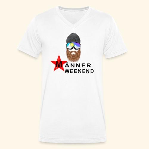 Männerweekend - Männer Bio-T-Shirt mit V-Ausschnitt von Stanley & Stella