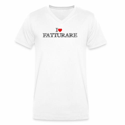 I love FATTURARE - T-shirt ecologica da uomo con scollo a V di Stanley & Stella