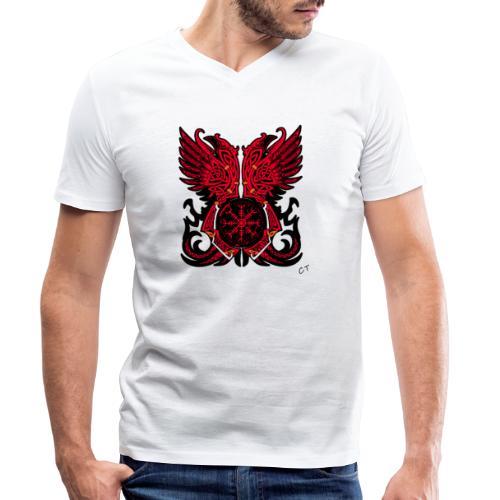 vikings - T-shirt ecologica da uomo con scollo a V di Stanley & Stella