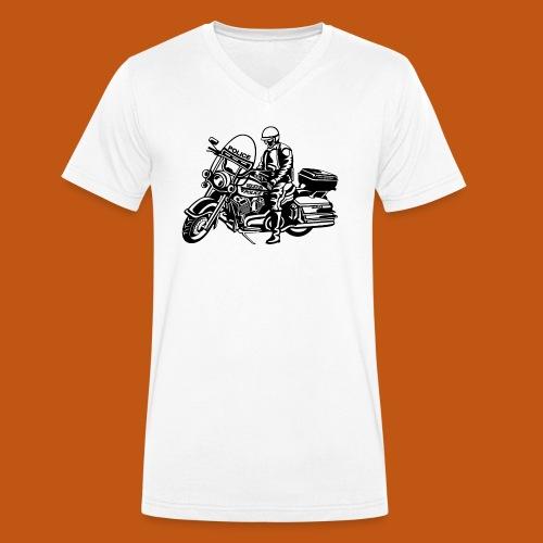 Motorradpolizei / Motorcycle Police 01_schwarz - Männer Bio-T-Shirt mit V-Ausschnitt von Stanley & Stella