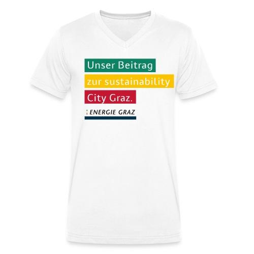 Energie Graz Vision - Männer Bio-T-Shirt mit V-Ausschnitt von Stanley & Stella