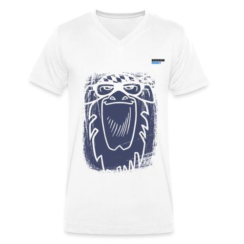 Bavarian Monkey Scratch - Männer Bio-T-Shirt mit V-Ausschnitt von Stanley & Stella