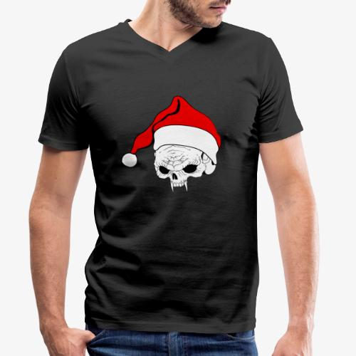pnlogo joulu - Men's Organic V-Neck T-Shirt by Stanley & Stella