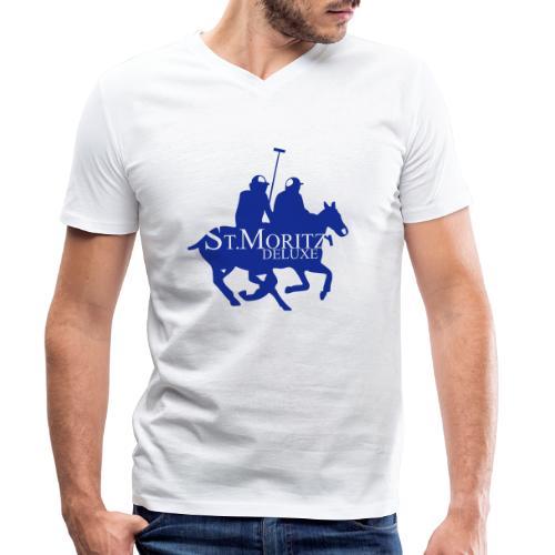 St-Moritz-Motiv 1 - Männer Bio-T-Shirt mit V-Ausschnitt von Stanley & Stella