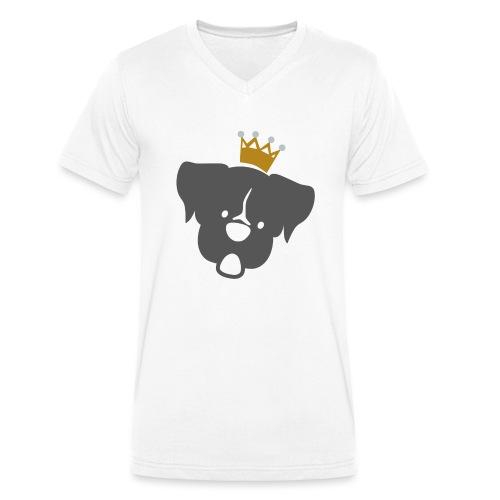 Prinz Poldi grau - Männer Bio-T-Shirt mit V-Ausschnitt von Stanley & Stella