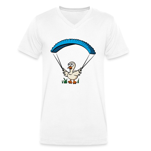 Groundhendl Groundhandling Hendl Paragliding Huhn - Männer Bio-T-Shirt mit V-Ausschnitt von Stanley & Stella