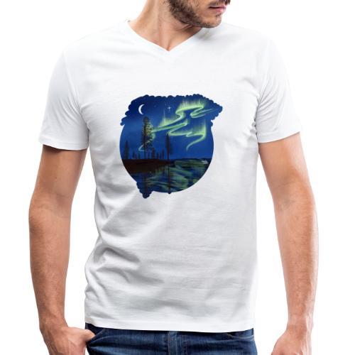 Reflet des aurores boréales - lapland8seasons - T-shirt bio col V Stanley & Stella Homme